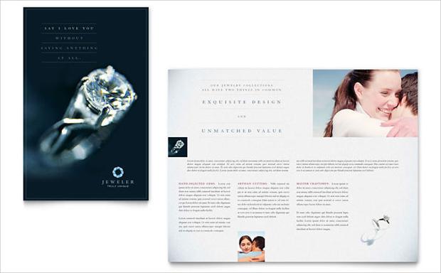 jewelry store brochure design