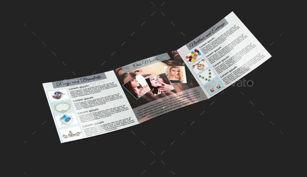 trifold jewelry brochure design