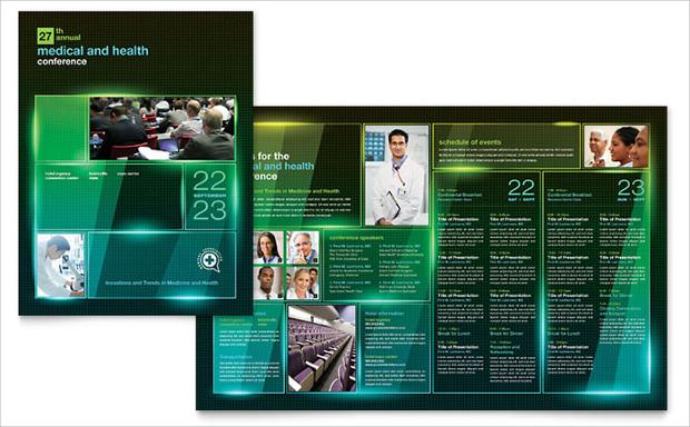 medical conference brochure design