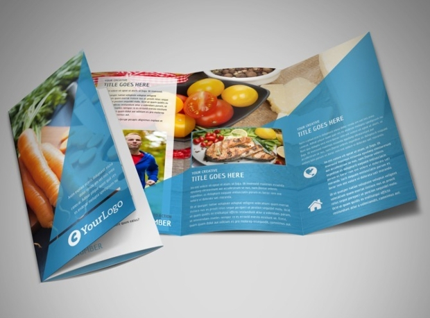 Health Nutrition Tri Fold Brochure