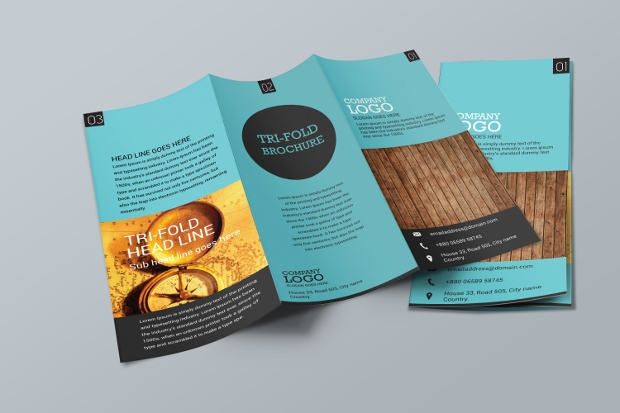 20 tri fold brochures printable psd ai indesign for Simple tri fold brochure template