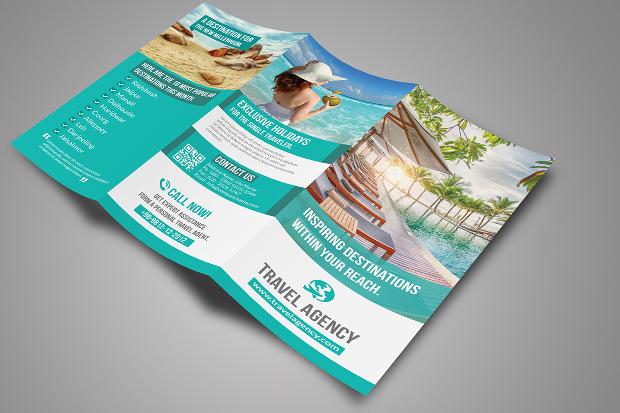 Travel Agency Tri Fold Brochure Design
