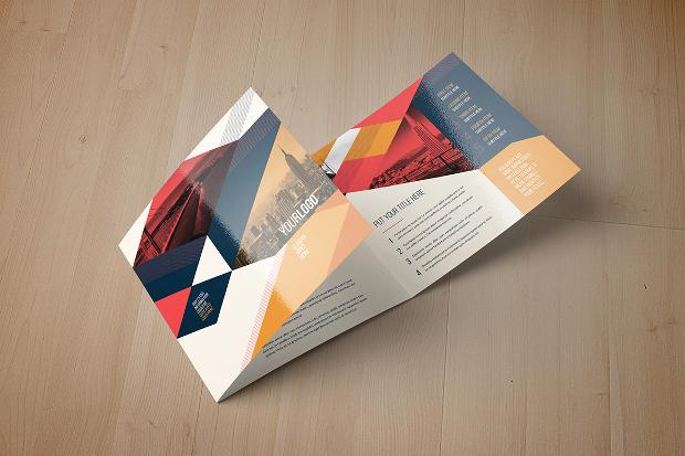 Vintage Square Tri Fold Brochure Design