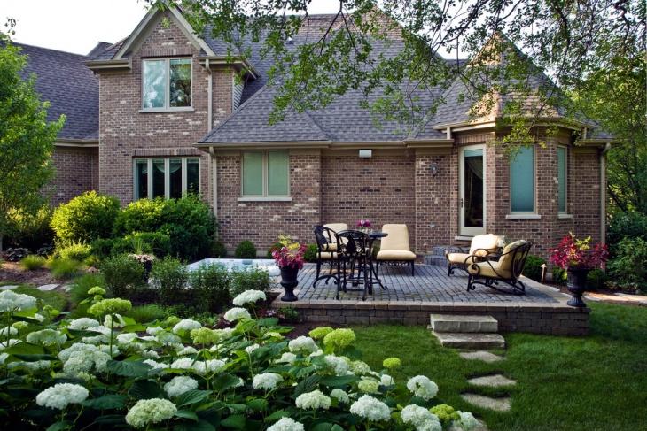 raised paver patio design