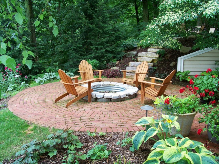 circular brick patio design