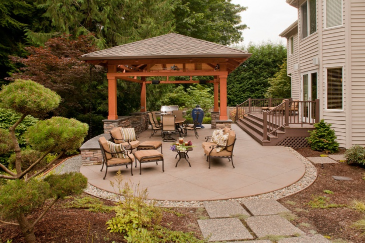 60 patio designs ideas design trends premium psd for Detached covered patio plans