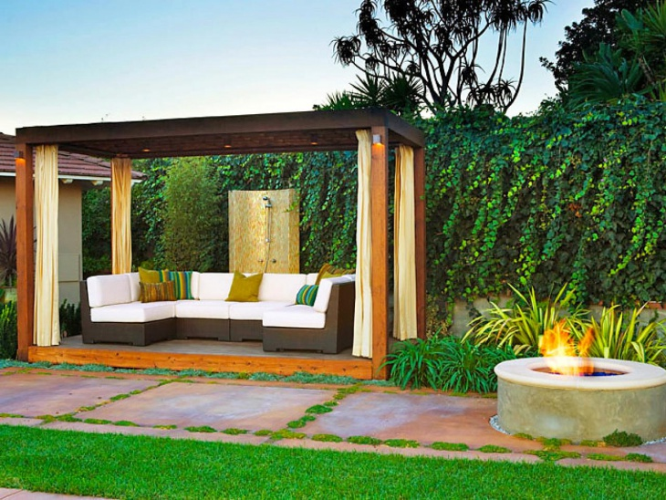contemporary small patio design