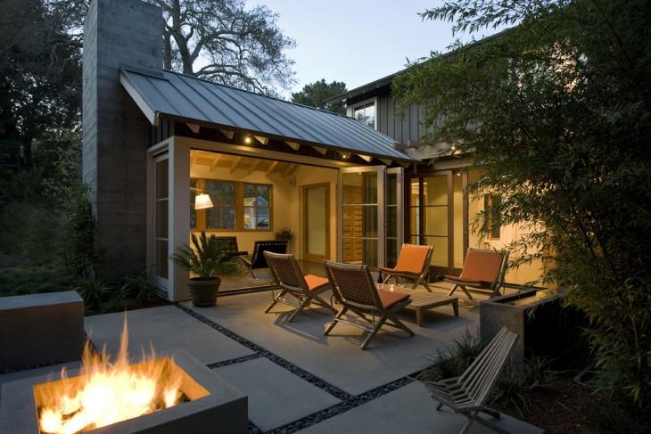 small concrete patio design