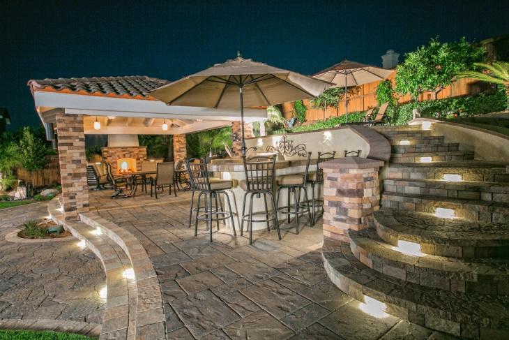 restaurant patio lighting design