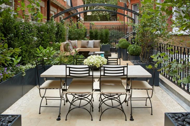 contemporary garden patio design