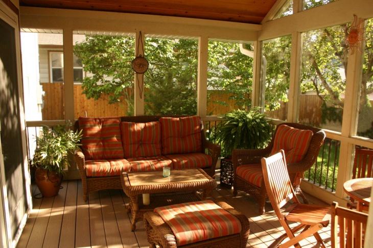 screened backyard patio design
