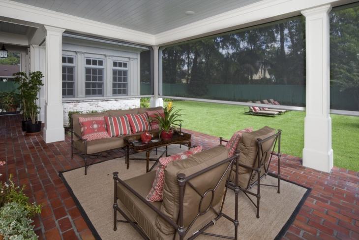 screened in patio design