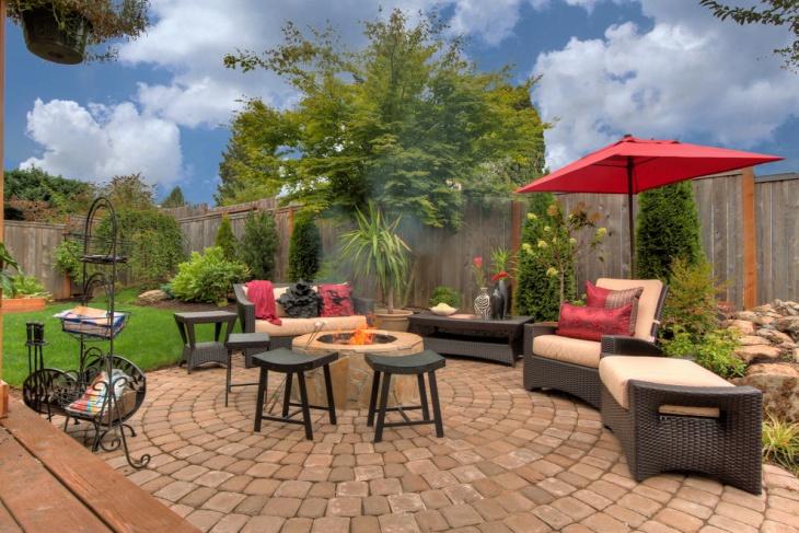 circular patio furniture design