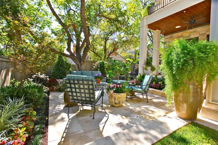small patio landscape design