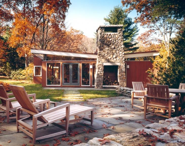 outdoor flagstone patio design