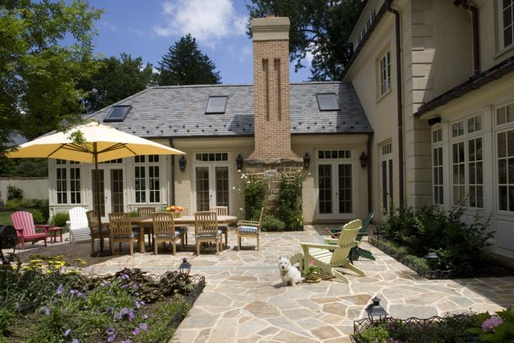 irregular flagstone patio design