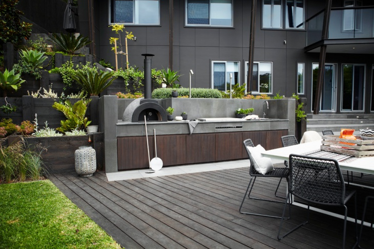 19 modern outdoor kitchen designs ideas design trends for Modern outdoor kitchen designs