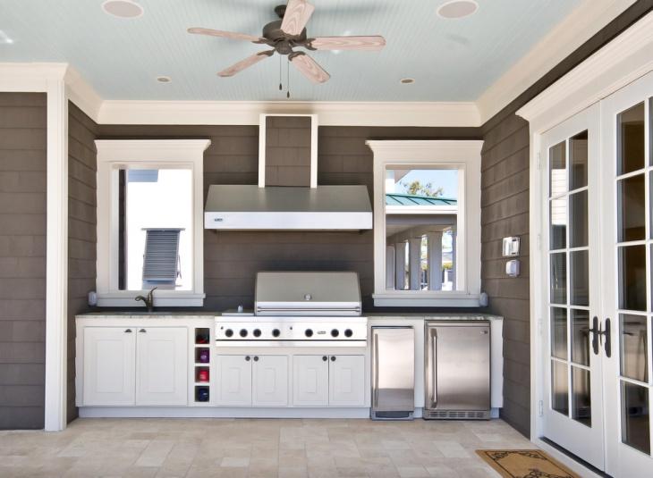 modern outdoor kitchen cabinet
