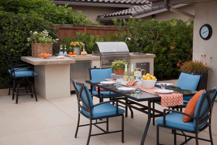 modern outdoor bbq kitchen