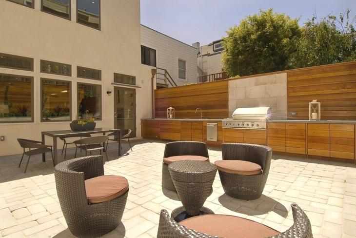 renovation of modern outdoor kitchen