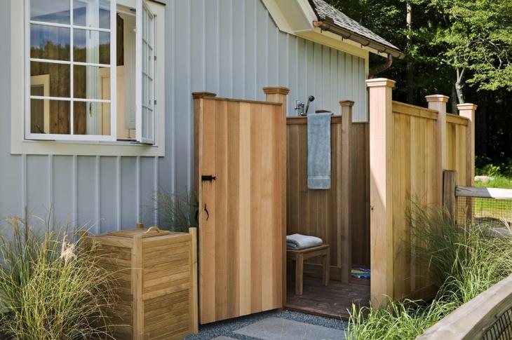 outdoor pool shower design