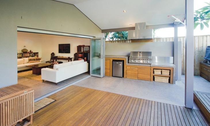 modern outdoor residence kitchen