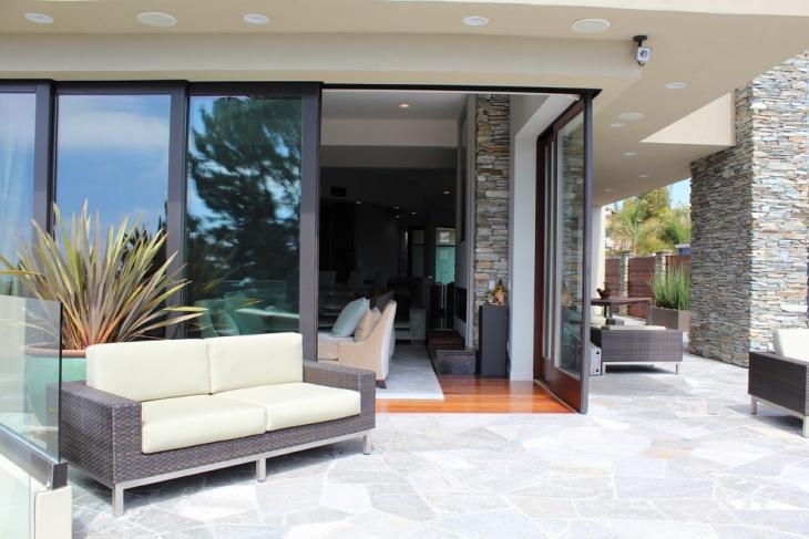 outdoor stone patio design