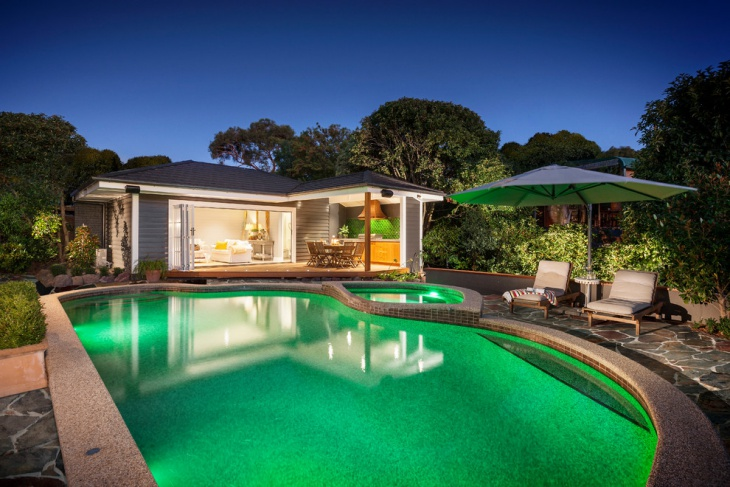 outdoor pool bathroom design