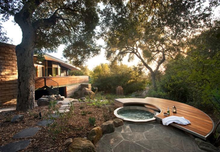 outdoor spa deck design