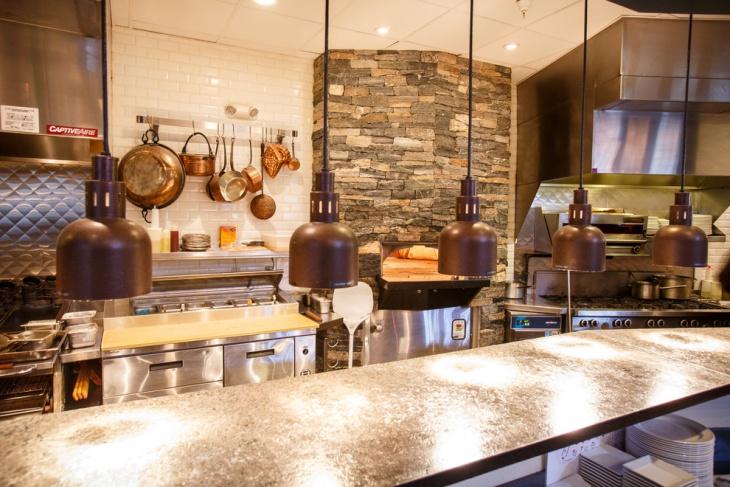 traditional restaurant kitchen