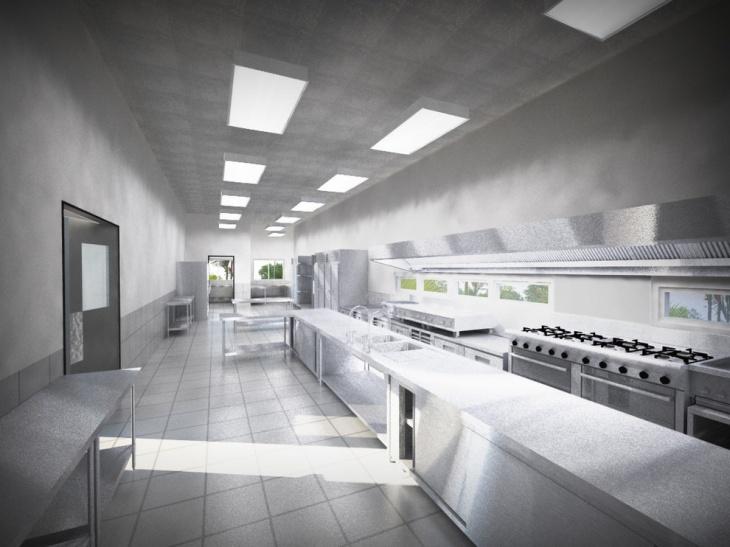 contemporary restaurant kitchen idea