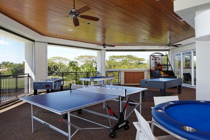outdoor games room design