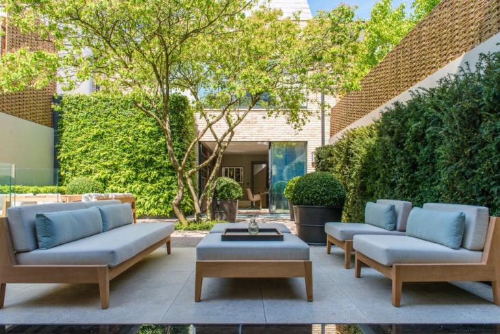 outdoor courtyard garden design