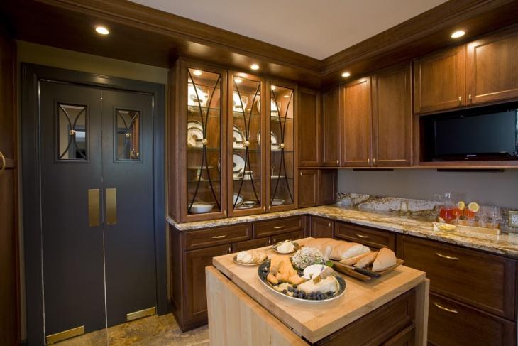 wooden restaurant kitchen interiors