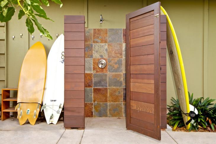 modern outdoor shower design
