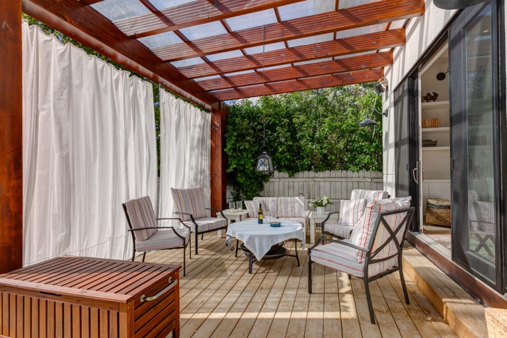 roof covered deck design