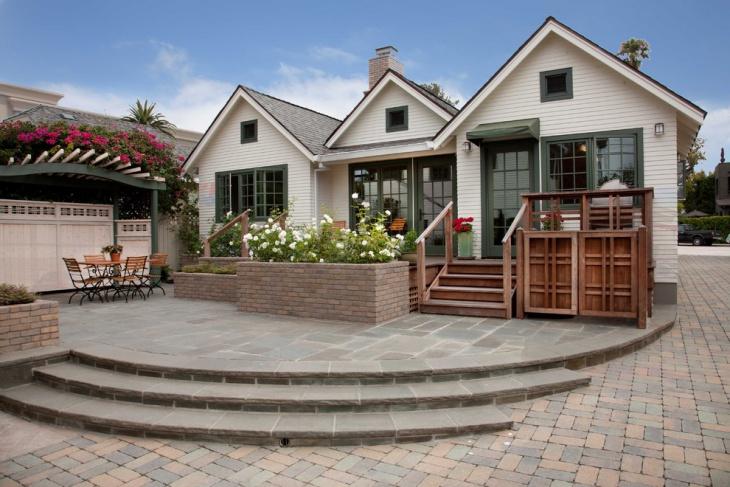 stone patio deck design