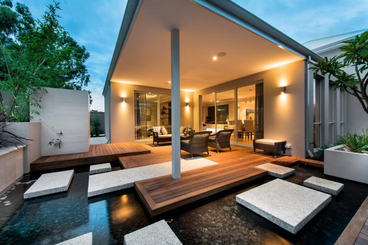 outdoor concrete deck design