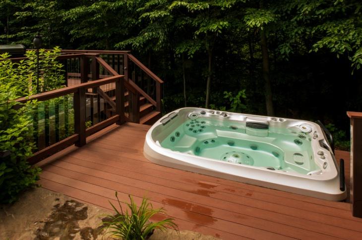 outdoor hot tub deck design