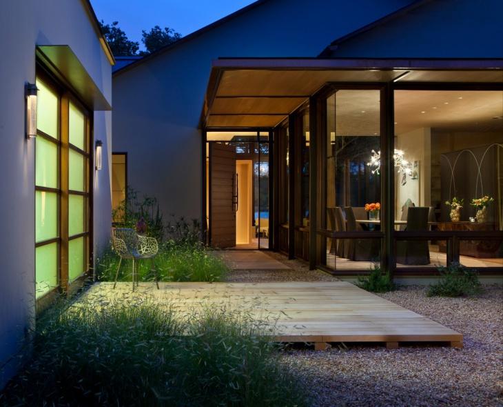 backyard low deck design