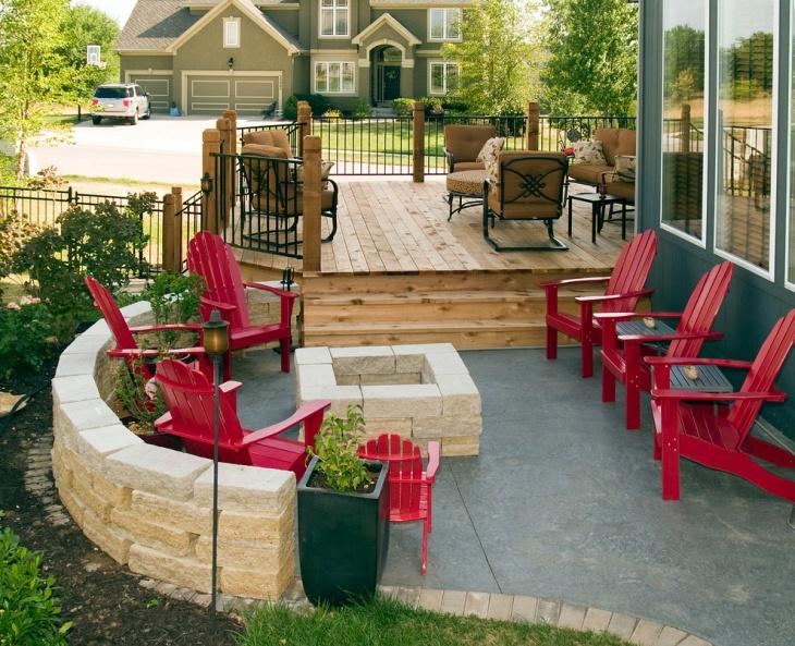 low patio deck design