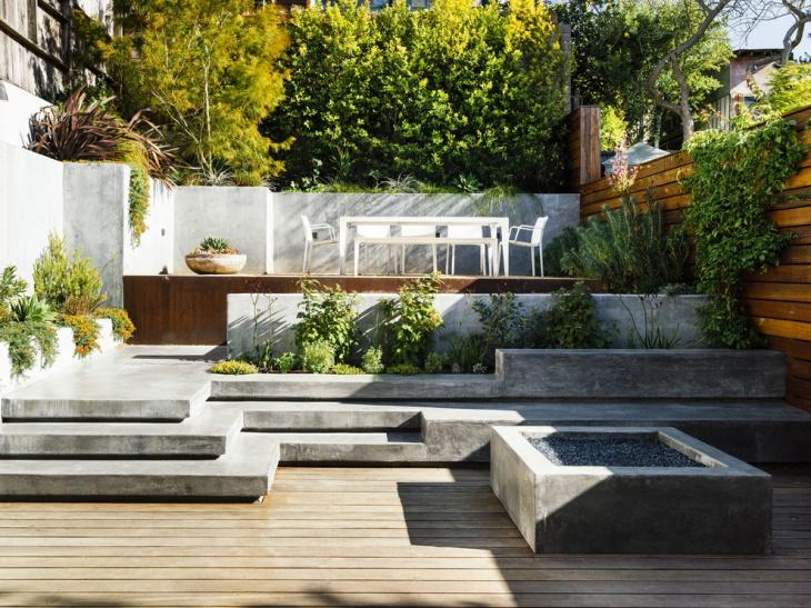 raised concrete deck design