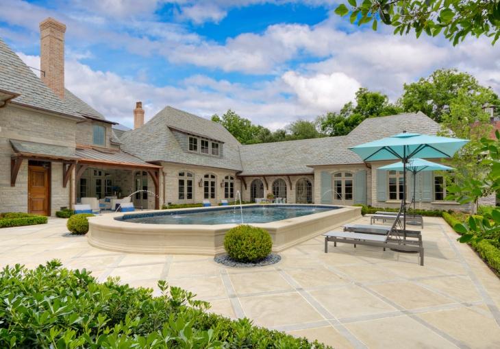 raised pool deck design