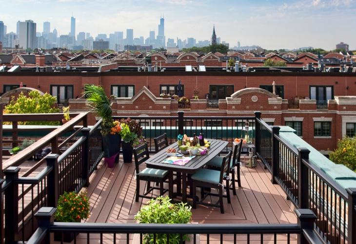 urban rooftop deck design
