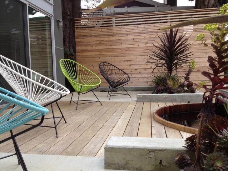 modern wood deck design