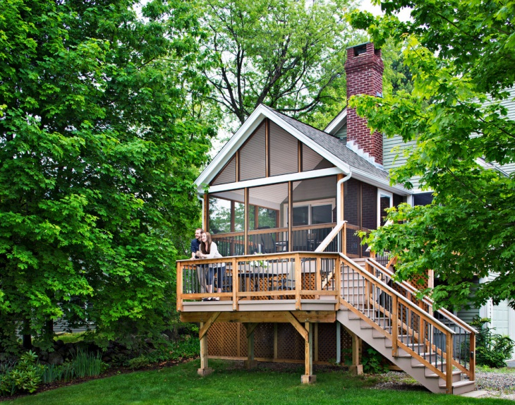 bi level home deck design