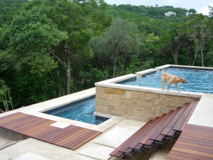 57 deck designs ideas design trends premium psd for Multi level deck above ground pool