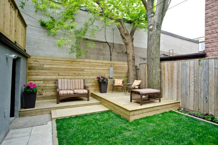 multi level backyard deck