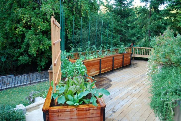 vegetable garden deck design