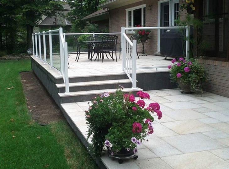brick paver deck design